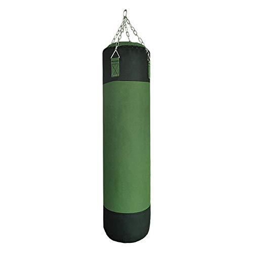 JJYY Saco de Boxeo Colgante, Saco de Boxeo Mitones Cadena Colgante Anclaje Techo Sacos de Boxeo para Boxeo y Muay Thai-120 CM