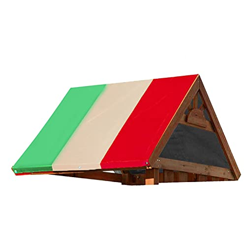 Emoshayoga Marquesina Columpio 132x226cm Marquesina Exterior para prevenir Rayos Ultravioleta para terraza(Green Rice Red Color Matching)