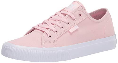 DC womens Manual Skate Shoe, Light Pink, 8.5 US