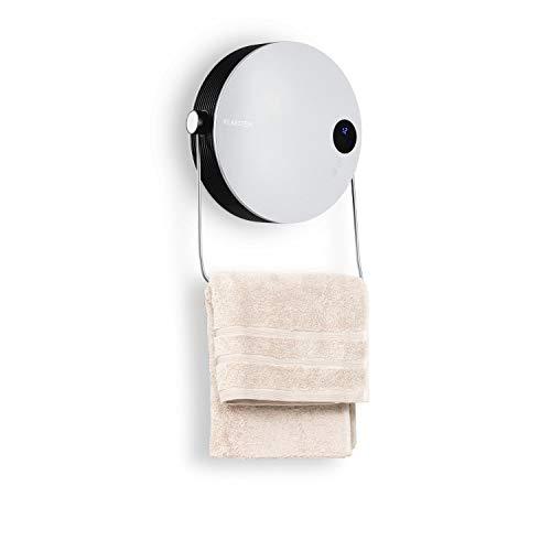 Klarstein Hot Spot Pebble - Heizlüfter Elektroheizung Handtuchwärmer Ventilator, 2000 Watt, bis 40 m², PTC Keramik-Heizelement, Standgerät oder Wandinstallation, Handtuchbügel, Thermostat