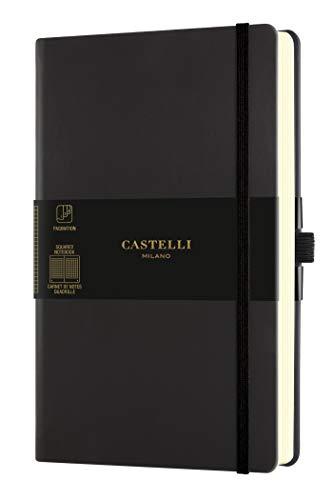 Castelli Milano -Taccuino, Medium, Nero