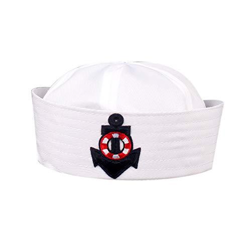 Bontand Uniforme Azul Marino Sombrero Casquillo De Marineros Barco De La Nave Capitán Militar Niños del Sombrero De Marina Cap Etapa Niños Sombrero Rendimiento para Niños Niñas