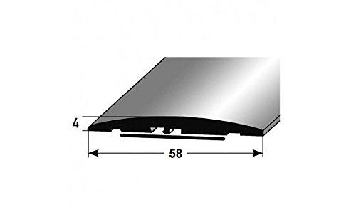 **TOPSELLER** Übergangsprofil / Übergangsschiene / 58 mm, Typ: 08 (Aluminium eloxiert, selbstklebend), Farbe: SILBER