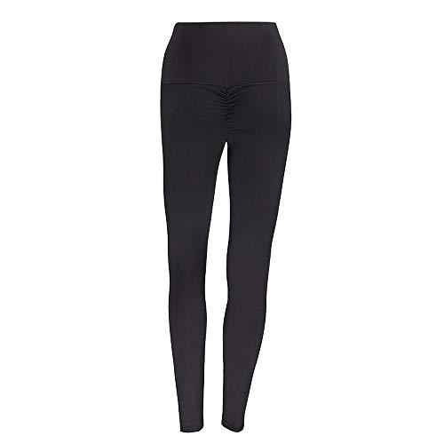 QFYD FDEYL Yoga Corriendo Fitness Pantalones,Leggings sin Costuras, Pantalones de Yoga de Cintura Alta para Correr-Black_M_China, Relaxed-fit Crewneck T-Shirt - Fashion-t-Shirts Mujer