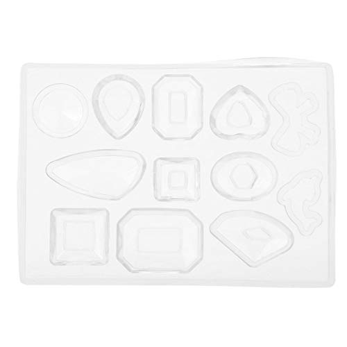 Transparent Silicone Jewellery, SculptingMoulding & CastingMould, Silicone Making Epoxy Mold Maker Tool Craft Geometric Jewellery Pendant Earring Handmade Molds for DIY Gift on Christmas Thanksgiving