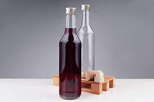 casavetro 6, 12, 24 x 500ml (0,5L) mit Verschluss/Schraub-Deckel,Glas-Flasche Set zum selbst Befüllen und Abfüllen, Essig Öl Flaschen (12 Stück)