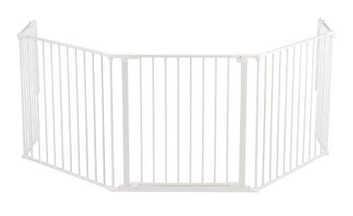 Baby Dan Konfigurationsgitter / Kaminschutzgitter Flex XL 90 - 278 cm - Hergestellt in Dänemark + TÜV/GS geprüft, Farbe: Weiß