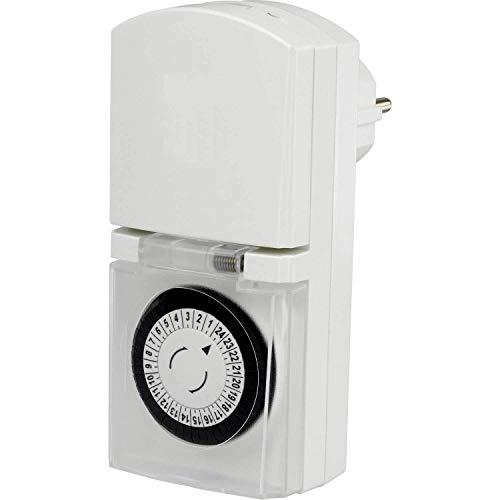 GAO Steckdosen-Zeitschaltuhr analog Tagesprogramm EMT449/9339C6 3680 W IP44