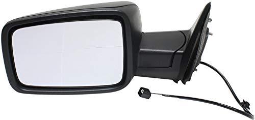 Kool Vue DG86L Mirror for RAM 1500/2500 P/U 13-17 LH Manual Man Fldg w/Temp Sensor Textured Black