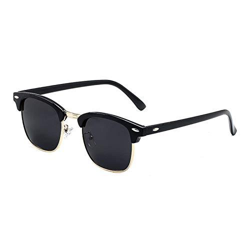 CYPZ Gafas de sol clásicas Gafas de sol retro de medio marco Gafas de sombreado de película de color Conducir vacaciones junto al mar