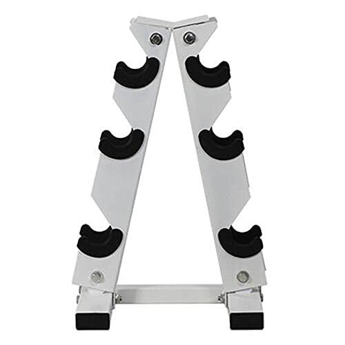 Soporte para mancuernas, soporte de acero sólido para almacenamiento de mancuernas, soportes para almacenamiento de mancuernas con marco en forma de A, para ejercicio de gimnasio en casa