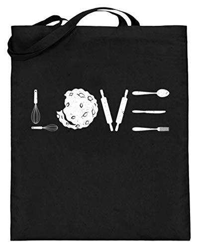 Chorchester Ideal para todos los panaderos y cocineros – Bolsa de yute (con asas largas), color Negro, talla 38cm 42cm