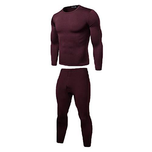 HIUGHJ sous-vêtements Thermiques d'hiver, sous-vêtements Chauds pour Hommes Long Johns sous-vêtements Thermiques Tops Bas Pantalons Plus la Taille L-2XL, XL