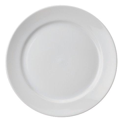 HIC Harold Import Co. Buffet-Teller, Porzellan, 30,5 cm, Weiß
