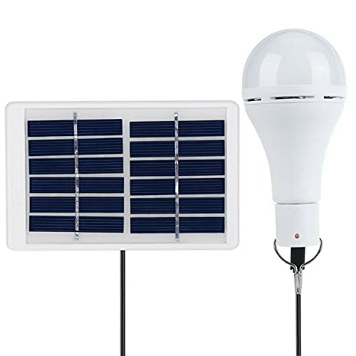 GWN Lámpara Solar LED BLS-70-25RC, lámpara Colgante portátil, lámpara de Bombilla de energía Recargable USB para Acampar al Aire Libre, lámpara de Tienda Solar