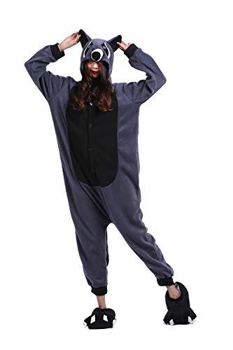 DarkCom Disfraz de Animal Unisex para Adulto Sirve como Pijama o Cosplay Sleepsuit de una Pieza Marrn,S para Altura(141CM-160CM)