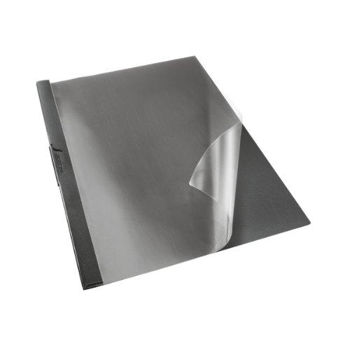 Esselte Dosier Clip File, Capacidad para 30 hojas A4, Plástico flexible, Negro, VIVIDA, 563700