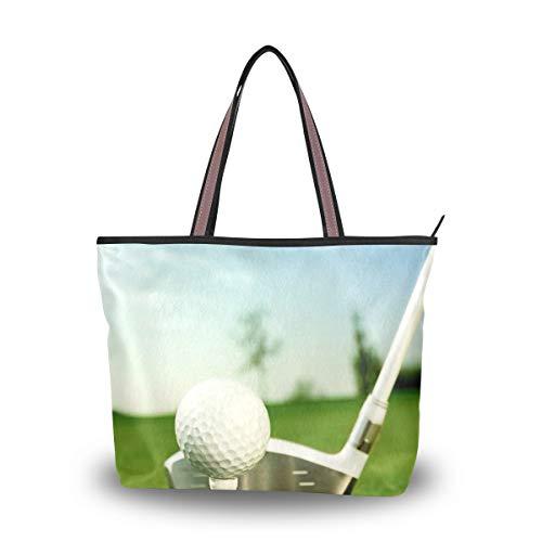 WowPrint Damen Sport-Golftasche, Handtasche, große Kapazität, Schultertasche für Schule, Arbeit, Reisen, Einkaufen, Strand