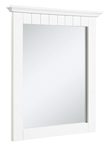 Design House 541581 Cottage Ready-To-Assemble 21x24-Inch Mirror, White