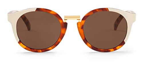 MR.BOHO, Cream/leo tortoise fitzroy with classical lenses - Gafas De Sol unisex multicolor (carey), talla única