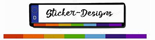 2Stück!50x2,5cm! Aufkleber/Klebe-Streifen für Kennzeichenhalter!Regenbogen K43-UV&Waschanlagenfest-Auto-Vinyl-Sticker Profi Qualität-Kratzfest!