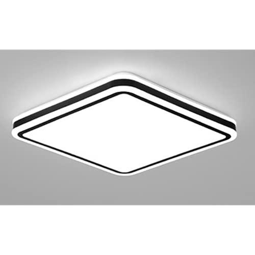 Led Lámpara De Techo Regulable Sala De Estar Plafón De Techo Dormitorio Con Mando A Distancia Los 50 * 50Cm-36W Luz Blanca Lámparas Geométricas De Moda Creativa.