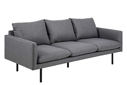 Movian Eli - Sofá de 3 plazas, 85 x 200 x 83 cm (largo x ancho x alto), gris oscuro