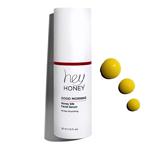 Hey Honey, Good Morning, Honey Silk Facial Serum. Silky smooth and luxurious serum. Doubles as a makeup primer. Replenishes & protects your skin so you are ready to take on the day. 1 oz.