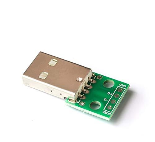 XUQIANG 10 unids Conector Macho USB/Mini Micro USB para Dip Adaptador 2.54MM 5PIN Conector Hembra B Tipo USB2.0 Convertidor de PCB Femenino USB-01 Traje de módulo (Color : USB 04)