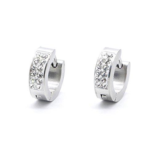 AERVEAL Örhängen, rostfritt stål strass örhängen mode smycken för män kvinnor