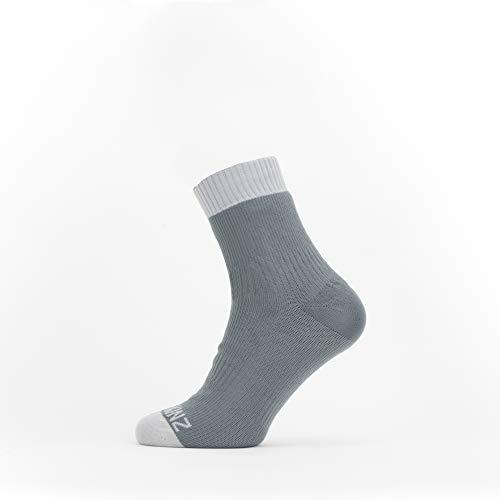 Seal Skinz Waterproof Warm Weather Ankle Length Sock Calcetines unisex para adultos, gris, L