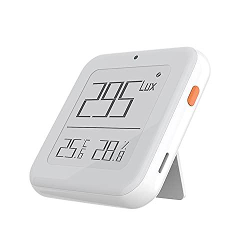 Keifen Tuya ZigBee Pantalla de tinta Iluminación inteligente Detector de temperatura y humedad APLICACIÓN ervisión remota Detección de luz/temperatura/humedad 3 en 1 Enlace inteligente Sensores