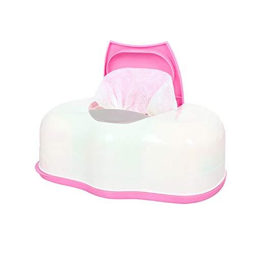 ZJMIQT Caja De Pañuelos,Organizador Home Car Wet Wipes Box Plástico Plástico Pink Tissue Automático Caso Pop-Up Design Tissue Case Baby Wipes Storage Organizer Box