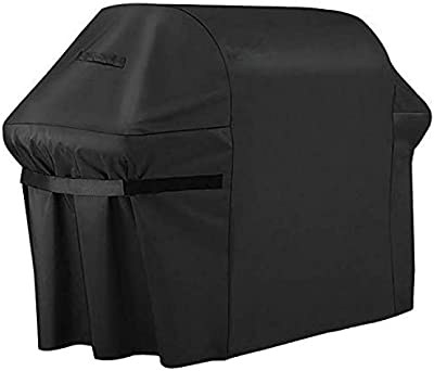 skyfiree Gas Grill Cover 58 inch 420D Durable Waterproof BBQ Grill Covers Outdoor Barbecue Double Handles for Weber Holland Jenn Air Black