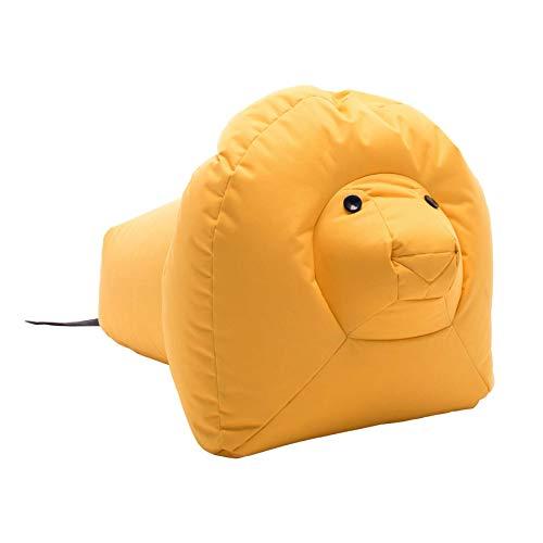 Sitting Bull 190303 Happy Zoo Nora Löwe Sitzsack, gelb 100% Polyester beschichtet