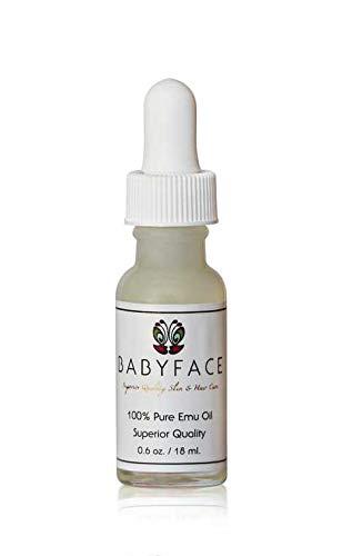 Babyface Emu Oil- Premium, Cosmetic Grade for Dry Skin, Rashes, Sensitive Eye AntiAging Treatment, Tattoo Healing