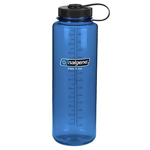 Nalgene Garrafa de água Tritan de boca larga livre de BPA, azul, 1,4 l