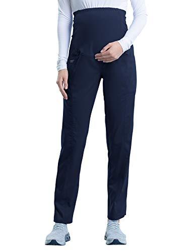 CHEROKEE Workwear WW Revolution Maternity Maternity Straight Leg Pant, WW155, 2XL, Navy