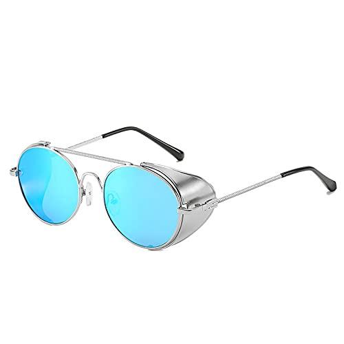 AMFG Gafas de sol Punk de metal Flip Marco Net Gafas de Sol Tendencia Personalidad Calle Gafas de sol (Color : G)