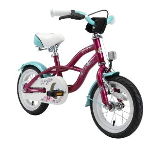 BIKESTAR Kinderfahrrad für Mädchen ab 3-4 Jahre | 12 Zoll Kinderrad Cruiser | Fahrrad für Kinder Violett | Risikofrei Testen