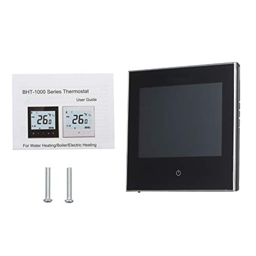 Vokmon Pantalla LCD Termostato Calentador del regulador de Temperatura, regulador de Agua Calentador de Habitaciones Calentamiento, Negro