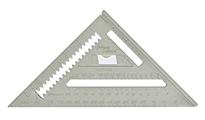Johnson Level & Tool Johnny Square, Professional Easy-Read Aluminum Rafter Square w/out Manual