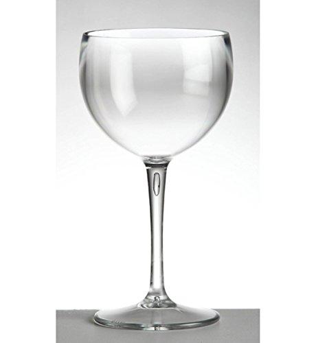 cartaffini – Verre à dégustation Balloon en polycarbonate transparent, capacité 40 cl