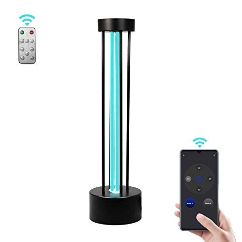 Poptel Smart Wifi UV-Licht-Sanitizer, 36-Watt-UVC-Lichtdesinfektion mit sicherer Fernbedienung & Radarsensor dritter Gang Timing, UV-Keimtötender Lichtsterilisator für zu Hause, Schule, Büro