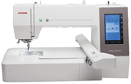 Máquina de coser Best Domestic Portable Euro Pro - Máquina de coser computadora blanca barata | Janome Memory Craft 550E máquina de bordado