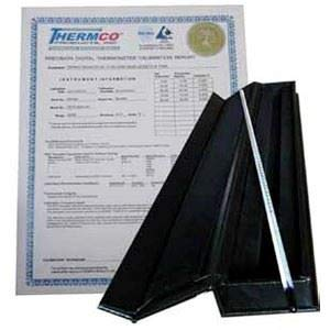 THERMCO ASTM CERTIFIED TRACEABLE TO N.I.S.T. THERMOMETERS-SET OF