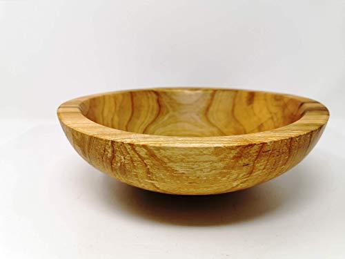 Holzschale rund aus Kirschen Holz - ∅ ca. 24 cm - H: ca. 8 cm handgemacht gedrechselt Schale Obstschale