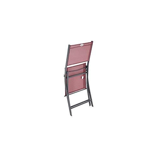 Hespéride Chaise Pliante extérieur Modula Bordeaux/Graphite