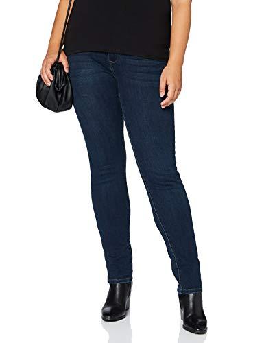 Morgan Tshirt Col V Manches Dentelle Daime Camiseta, Negro, TS para Mujer