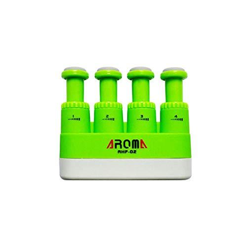 ABMBERTK Gitarrenfinger-Trainingsgerät, Klavierbass-Übungs-O-Grip-Verstärker, Instrumentenzubehör 4 Farben, grün
